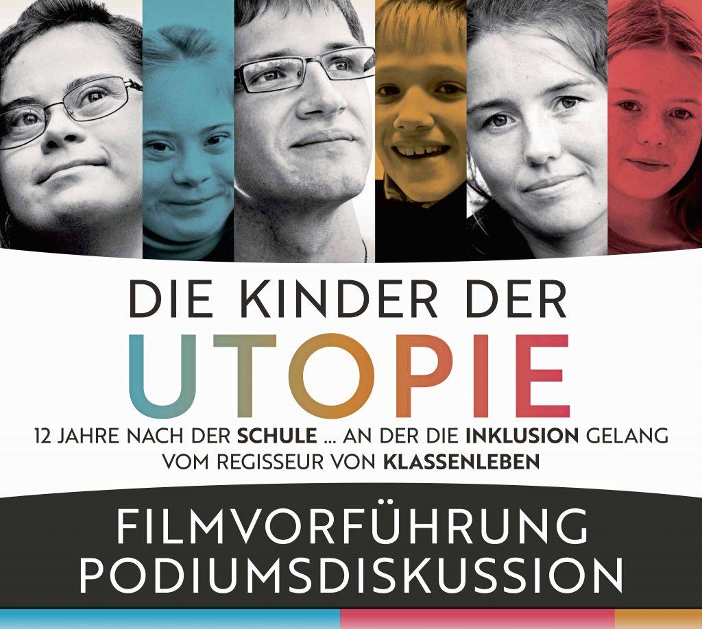 Filmplakat und Filmtitel. Das Plakat zeigt mehrer Gesichter von Schüler*innen als Kinder und als junge Erwachsene