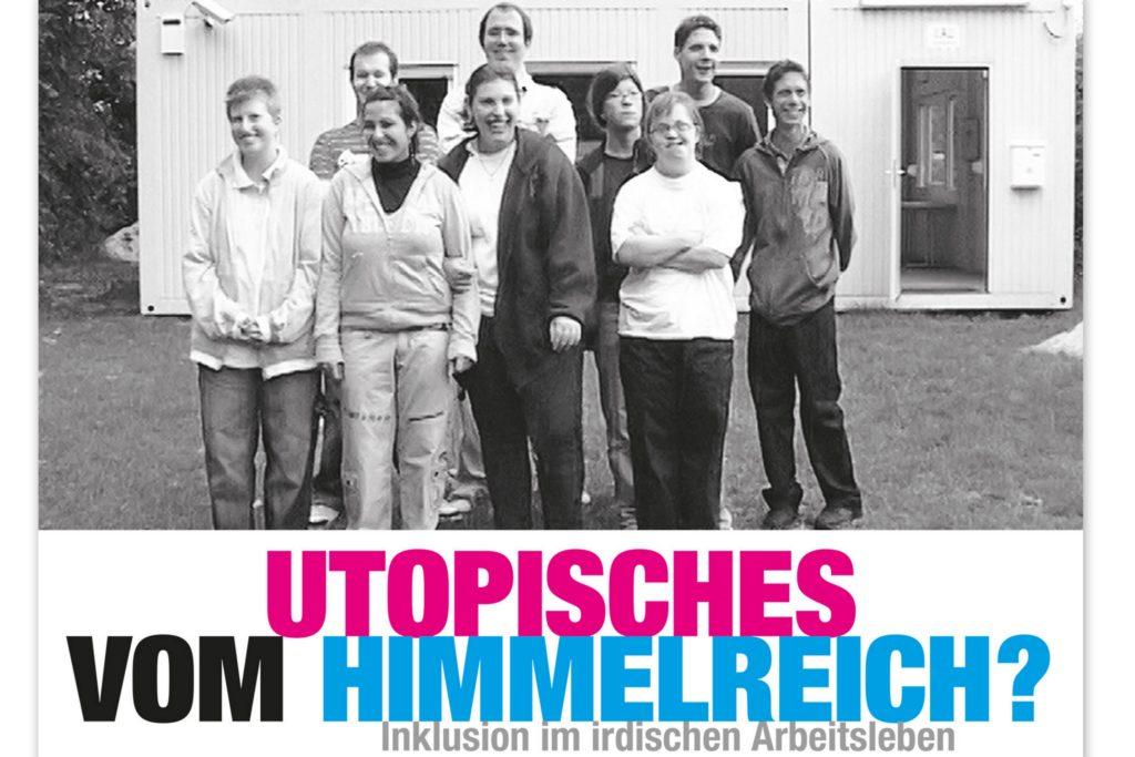 Filmplakat mit Filmtitel und einem Fotos der Teilnehmenden von früher, zu Beginn ihrer Qualifzierung in der Akademie Himmelreich